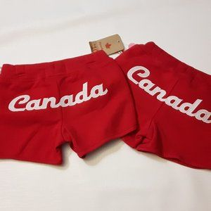 Pair of Girls Shorts XS 4-5 RED Canada